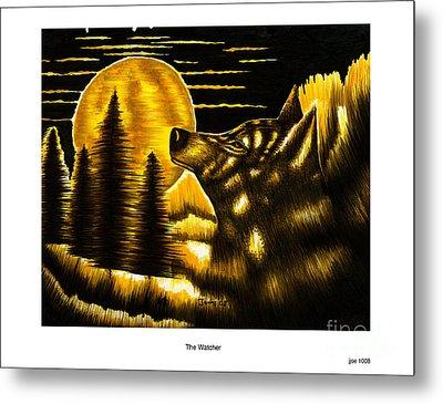 The Watcher Metal Print by Jonas Jeque