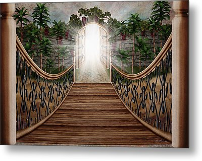 The Way And The Gate Metal Print by April Moen
