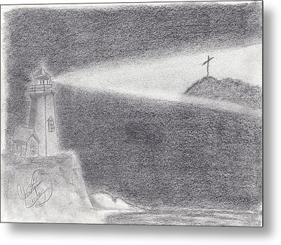 The Way To The Cross Metal Print by Christina Conley