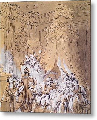 The Wedding Night Metal Print by Pierre Antoine Baudouin