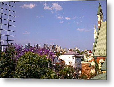 The West End Metal Print by Edwin Vincent