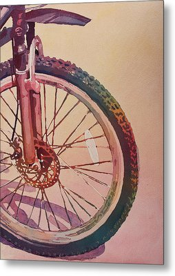 The Wheel In Color Metal Print by Jenny Armitage