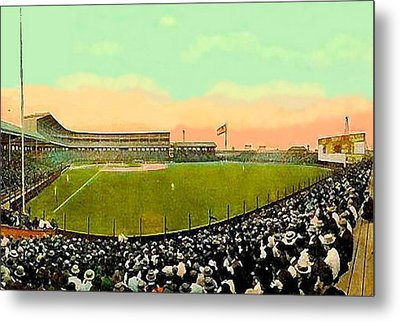 The White Sox Southside Baseball Park In Chicago Il In 1913 Metal Print by Dwight Goss