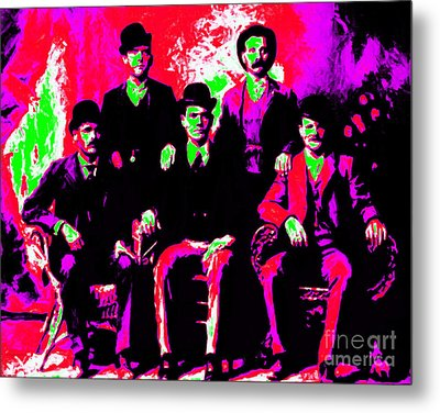 The Wild Bunch 20130212 Metal Print by Wingsdomain Art and Photography
