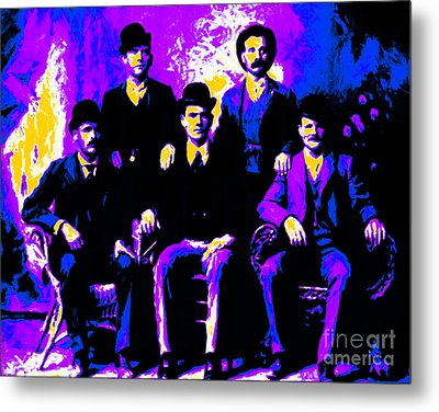 The Wild Bunch 20130212m68 Metal Print by Wingsdomain Art and Photography