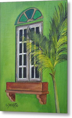 The Window Metal Print by Gloria E Barreto-Rodriguez