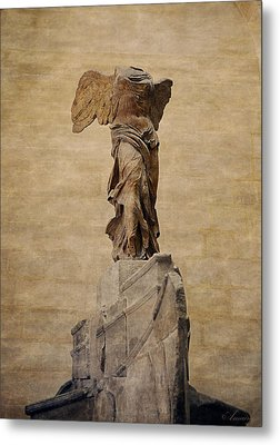 The Winged Victory Of Samothrace Metal Print by Maria Angelica Maira
