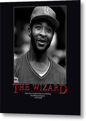 The Wizard Ozzie Smith Metal Print by Retro Images Archive