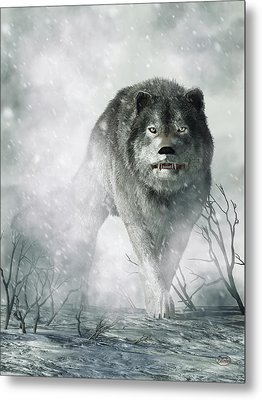 The Wolf Of Winter Metal Print by Daniel Eskridge