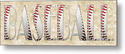 The Word Is Baseball Metal Print by Andee Design