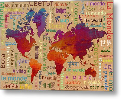 The World Metal Print by Bedros Awak