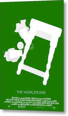 The Worlds End Cornetto Trilogy Custom Poster Metal Print by Jeff Bell