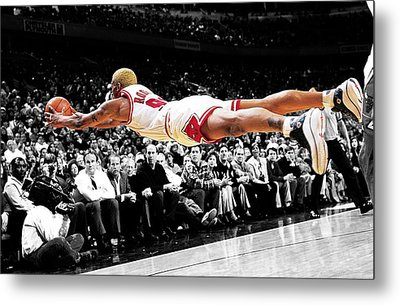 The Worm Dennis Rodman Metal Print by Brian Reaves