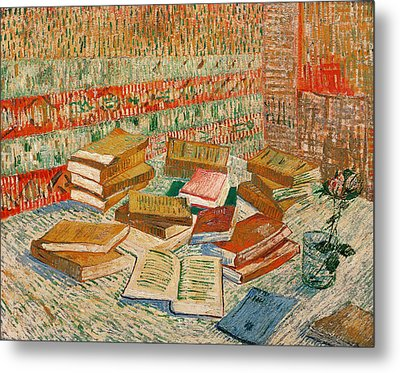 The Yellow Books Metal Print by Vincent Van Gogh