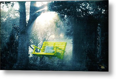 The Yellow Swing Metal Print by Douglas MooreZart