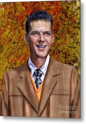 The Young Chairman - Sinatra Metal Print by Reggie Duffie