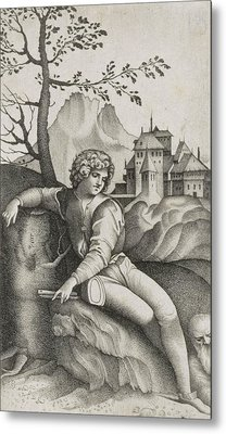 The Young Shepherd Metal Print by Giulio Campagnola