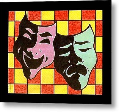 Theatre Masks Metal Print by Jim Harris