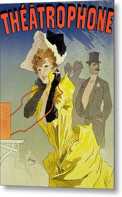 Theatrophone Poster Metal Print by Jules Cheret