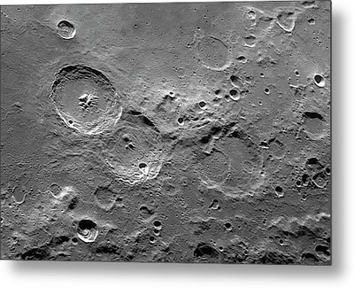 Theophilus Trio Of Lunar Craters Metal Print by Damian Peach