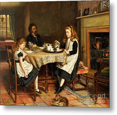There Is No Fireside... Metal Print by George Goodwin Kilburne