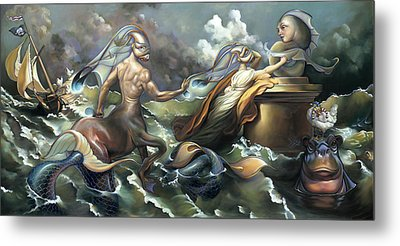 There's Something Fowl Afloat Metal Print by Patrick Anthony Pierson