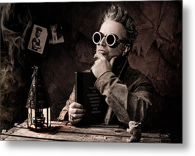 Things To Consider - Steampunk - World Domination Metal Print by Gary Heller