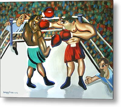 Third Round Metal Print by Anthony Falbo