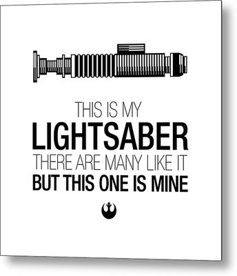 This Is Luke's Lightsaber Metal Print by Vincent Carrozza