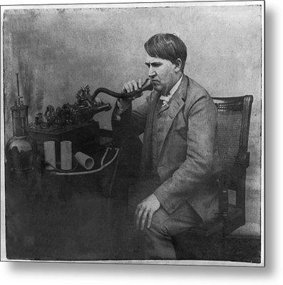 Thomas Alva Edison 1892 Metal Print by Digital Reproductions