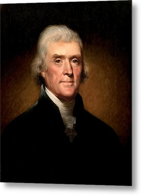 Thomas Jefferson By Rembrandt Peale Metal Print by Digital Reproductions