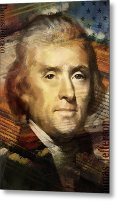 Thomas Jefferson Metal Print by Corporate Art Task Force