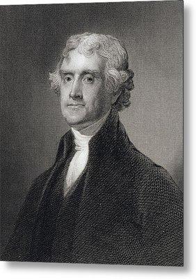 Thomas Jefferson Metal Print by Gilbert Stuart
