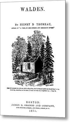 Thoreau Walden, 1875 Metal Print by Granger