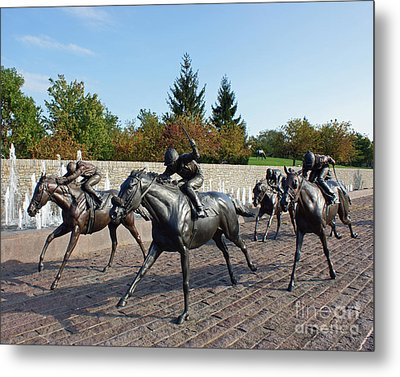 Thoroughbred Park Metal Print by Roger Potts