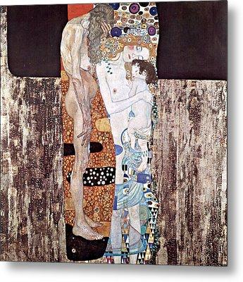 Three Ages Of Woman Metal Print by Gustive Klimt