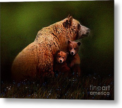Three Bears Metal Print by Robert Foster
