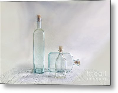 Three Bottles Metal Print by Veikko Suikkanen