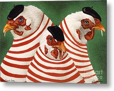 Three French Hens... Metal Print by Will Bullas