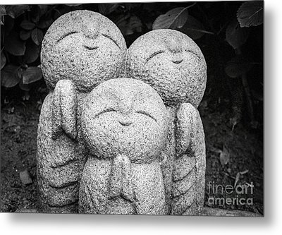 Three Happy Buddhas II Metal Print by Dean Harte
