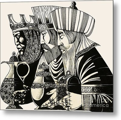 Three Kings Metal Print by Richard Hook