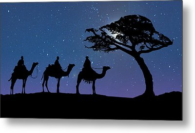 Three Kings Metal Print by Schwartz