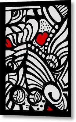 Three Little Hearts  Metal Print by Carrie Stewart
