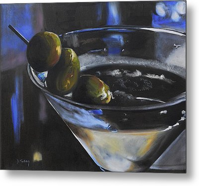Three Olive Martini Metal Print by Donna Tuten