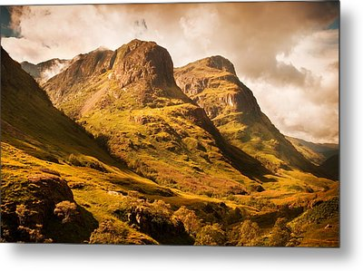 Three Sisters. Glencoe. Scotland Metal Print by Jenny Rainbow