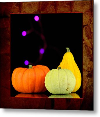 Three Small Pumpkins Metal Print by Toppart Sweden