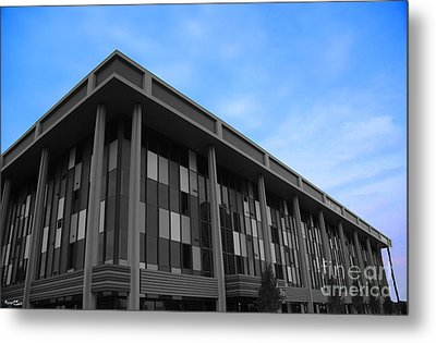 Three Story Selective Color Building Metal Print by Bill Woodstock