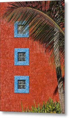 Three Windows Metal Print by Adam Romanowicz