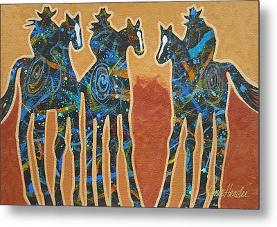 Three With Rope Metal Print by Lance Headlee