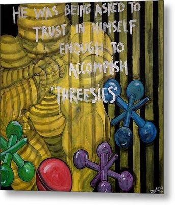 Threesies Metal Print by Darlene Graeser